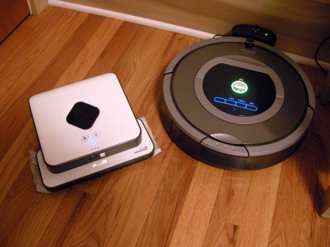 le robot nettoyeur mint dirt devil evo vs le robot aspirateur roomba 780 blog kelrobot. Black Bedroom Furniture Sets. Home Design Ideas