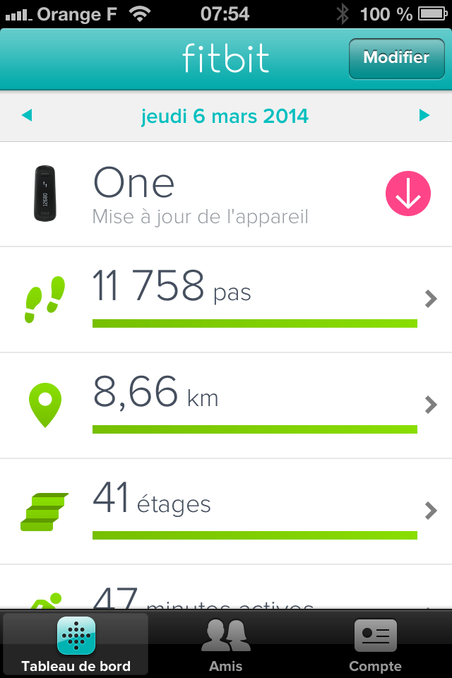 fitbit one application
