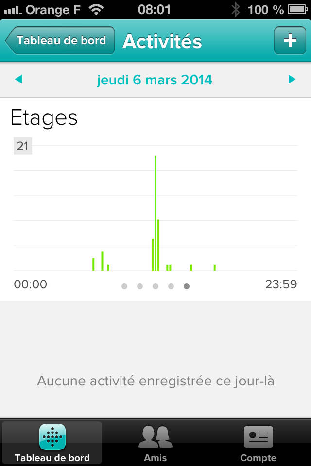 fitbit one étages