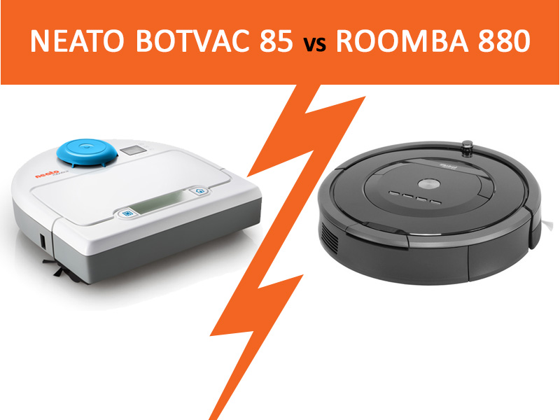 comparatif neato botvac 85 vs roomba 880 blog kelrobot. Black Bedroom Furniture Sets. Home Design Ideas